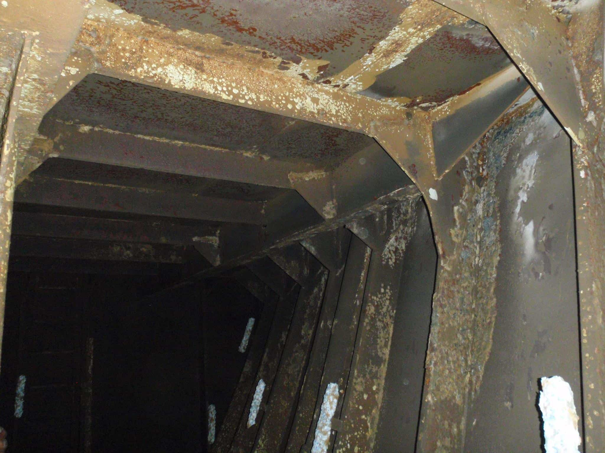 corroded ballast tank internal walls
