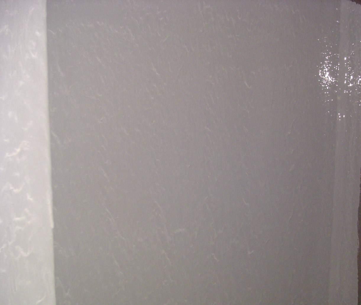 grey painted internal tank wall