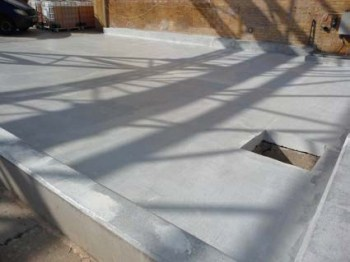 square concrete bund with sump