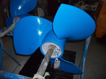ceramic blue propeller blades