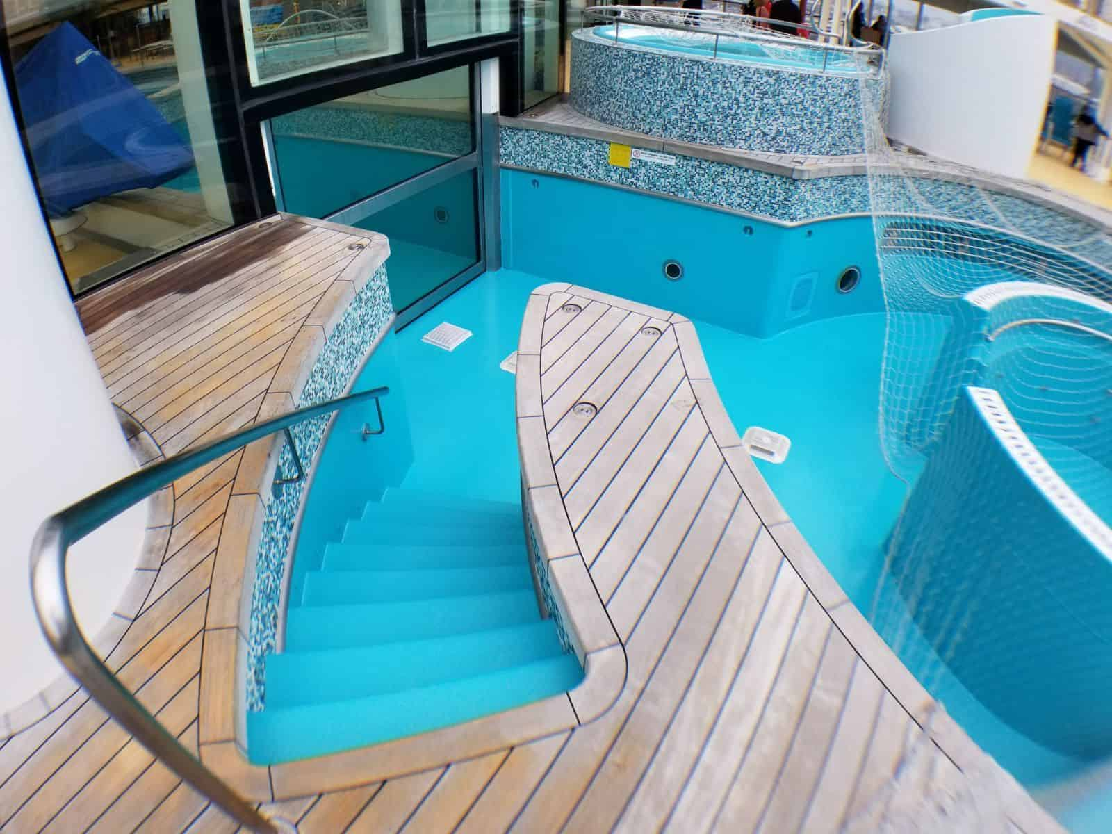 cruise ship swimming pool stairs