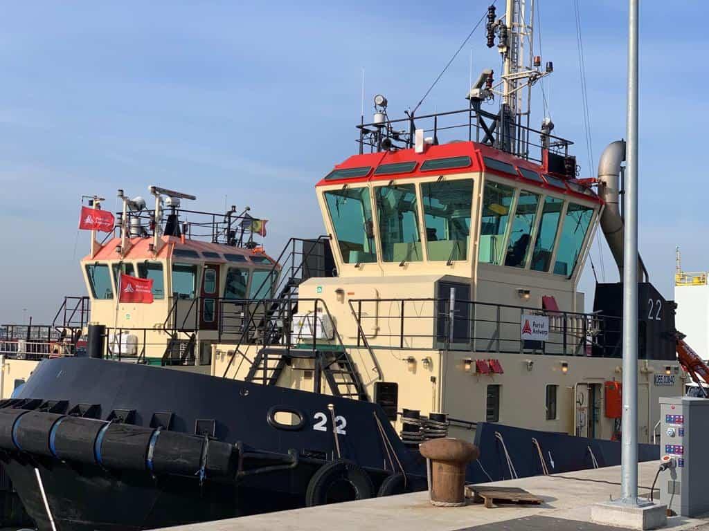 tugboats in port dock