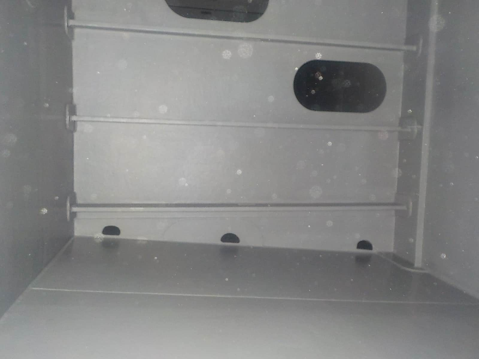 tank internals coated in grey colour